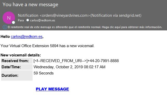 phising mensaje de voz