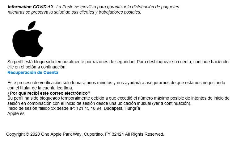 Covid 19 y apple